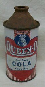 """Vintage """"Queen-O"""" Sparkling Cola Cone-Top 12oz Can (Buffalo, NY) VG Condition"""