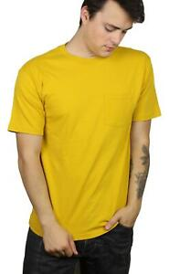 Brixton-Mens-Basic-Standard-Pocket-S-S-T-Shirt-Nugget-Gold-M-New
