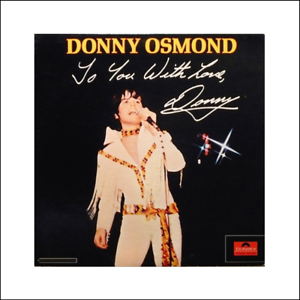 Miniature DONNY OSMOND record album Dollhouse 1:12 scale