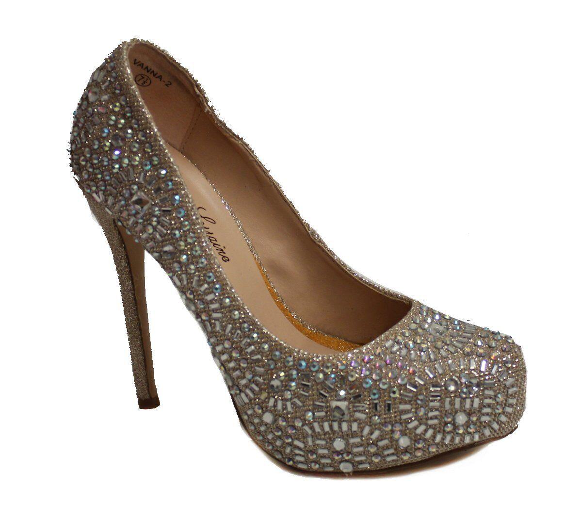 Lauren Lorraine Women's Vanna 2 Heel US 7.5 Champagne NOB