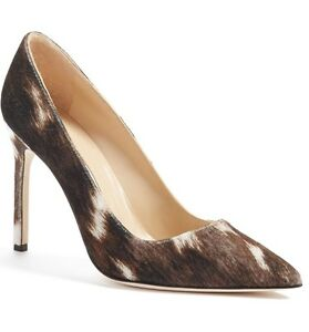 f9e84629768b New Manolo Blahnik Black White  Brown Velvet Fabric BB Pump Women ...
