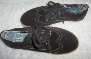 Clarks-Men-039-s-Brown-Suede-Lace-Up-Casual-Fashion-Sneaker-Walking-Shoes-Size-10-M