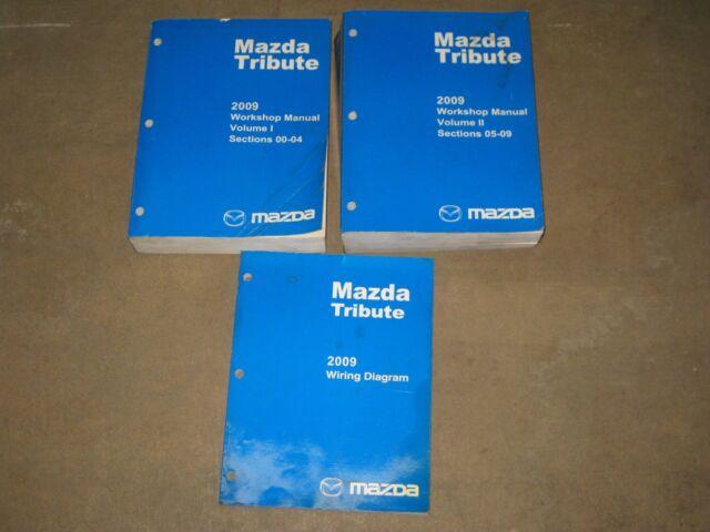 Mazda Tribute 2009 Dealer Workshop And Wiring Diagram Manuals