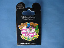 CHESHIRE CAT Alice  Disney Pin MADNESS moves   New on Card