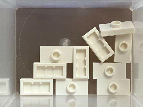- No 15573 White Plate 1 x 2 w 1 Stud Jumper QTY 10 LEGO Parts