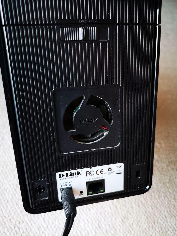 D link dns 320, ekstern, 500 GB