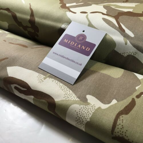 "Army Military Camouflage 100/% Cotton Drill Medium Weight Fabric 58/"" M629 Mtex"