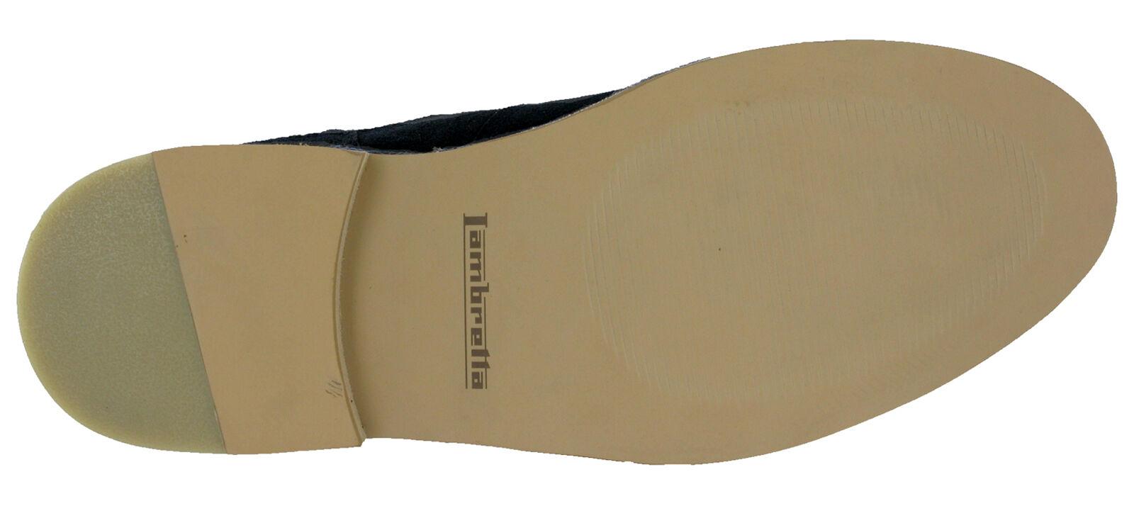 Lambretta Navy Chelsea Stiefel Desert Desert Desert Ankle Suede Leder Dealer Pull On   Herren 4dfb74