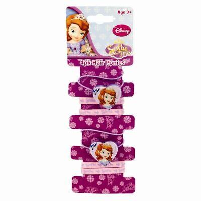 4 Pack Disney Hair Bobbles Girls Hair Bands Elastics