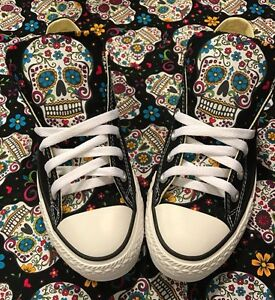 09c220685d74 Image is loading Sugarskull-Converse-Chuck-Taylor-Shoes-Day-of-the-