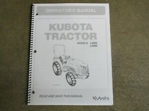 Details about Kubota L3200 L3800 L 3200 3800 tractor owners & maintenance  manual