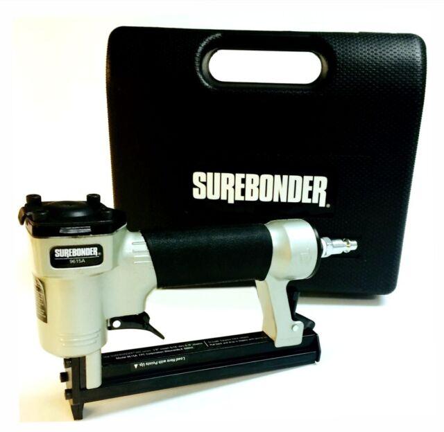 Surebonder Heavy Duty Staple Pneumatic Air Gun w Case Upholstery Stapler NEW