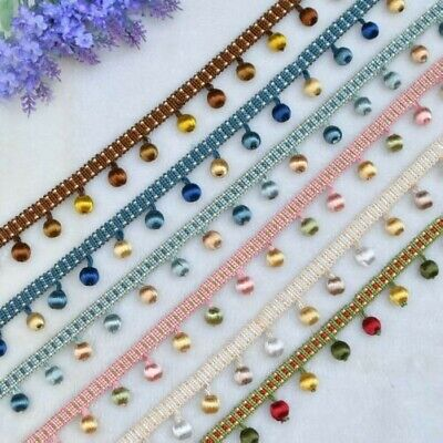 Tassel Trimming 1M Bobble Trim Curtain Crystal Fringe POM Sewing Ribbon