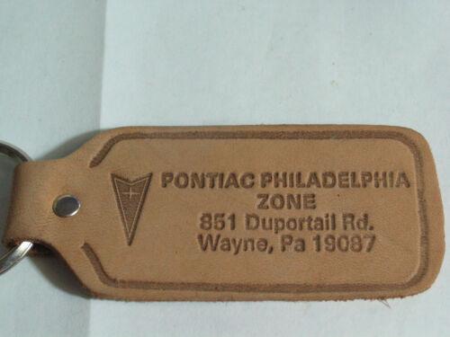 Pontiac Philadelphia Zone Leather Keychain