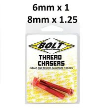 Bolt Motorcycle Thread Cleaner Chasers 6mm x 1 8mm x 1.25 Yamaha