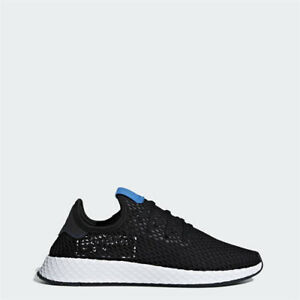 e63259d0f Image is loading Adidas-B42063-Deerupt-Running-shoes-black-blue-sneakers