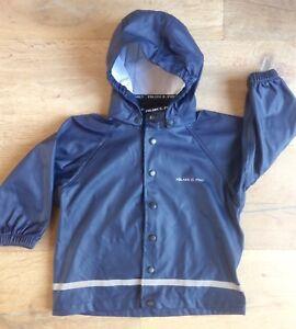 433c361986f5 Details about Polarn O. Pyret 12-24 month 1-2 yrs boy kids waterproof  jacket Hi-Vis rain coat