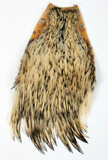 """INDIA CAPE  /"""" Rooster Cock Neck Cape #1 /""""  GREEN   Fly Tying Dry Flies"""