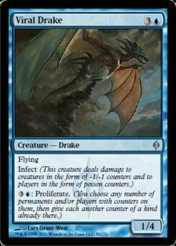 New Phyrexia x4 4x LP 4 Viral Drake mtg