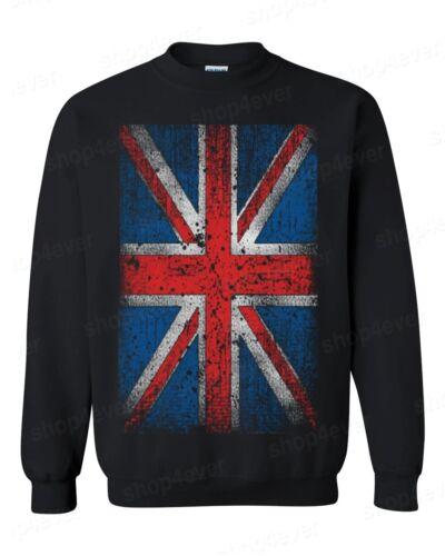 Uk Great Sweatshirts Jack Crewneck Union England Vintage Britain Distressed Flag d6w0zxIEzq