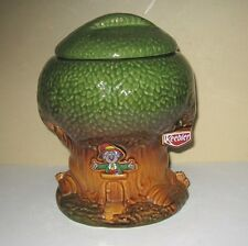 Vintage Keebler Elf In Tree Ceramic Treehouse Cookie Treat Jar