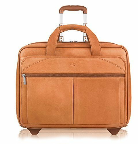 NEW Solo Walker 15.6 Inch Rolling Laptop Case Tan FREE SHIPPING