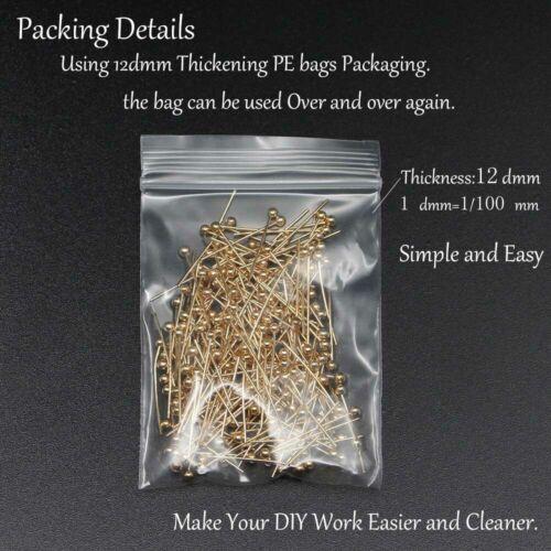 200pcs 16-50mm Metal Ball Head Pins Eye Pins Dia 0.5mm For Diy Jewelry Findings
