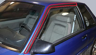 Roof Rail Molding for 1987-1993 Ford Mustang Sedan Left /& Right Side 2pc