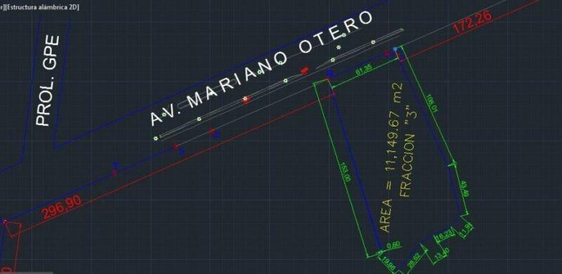 TERRENO EN VENTA PROL MARIANO OTERO Y PROL AV GUADALUPE IDEAL PARA DESARROLLO