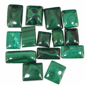 14-Pcs-Natural-Malachite-AAA-Finest-Green-Cabochon-Gemstones-Wholesale-12mm-24mm