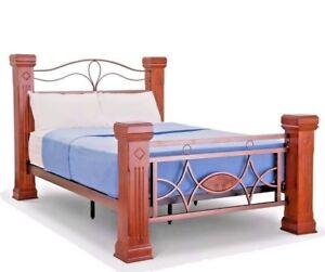 Image Is Loading Lavish Omega Solid Wooden Amp Metal Bed Frame