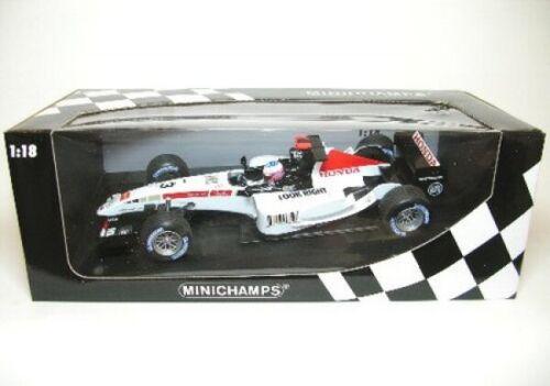 3 J button fórmula 1 ShowCar 2005-1:18 Minichamps Bar honda No
