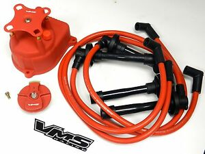 DISTRIBUTOR CAP + ROTOR + SPARK PLUG WIRE KIT FOR 94-01 ACURA ...