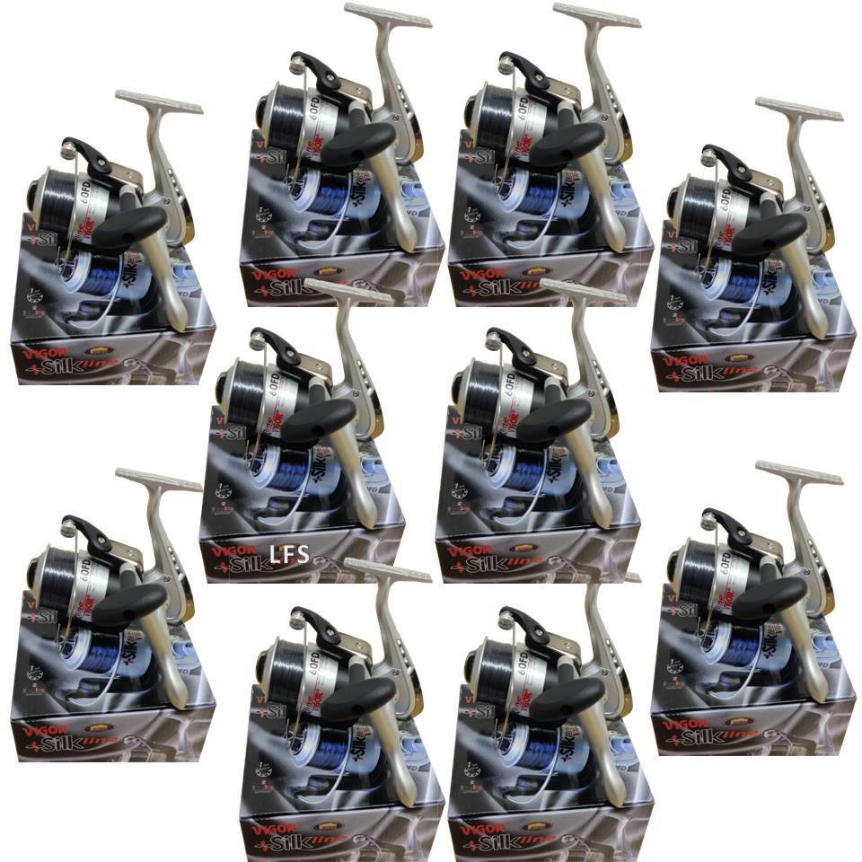 10 x LINEAEFFE SEA FISHING VIGOR WITH 60 BEACH PIER REELS WITH VIGOR LINE WHOLESALE 1d63e1