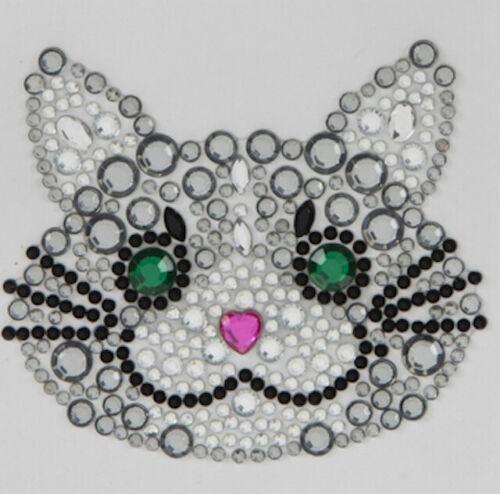 Gatito Gato Diamante de Imitación Pegatinas Auto Adhesivo Adornos Hágalo usted mismo Crafts