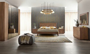 ... Schlafzimmer Komplett Ulmen Holz Struktur Tabak Farbe Modern