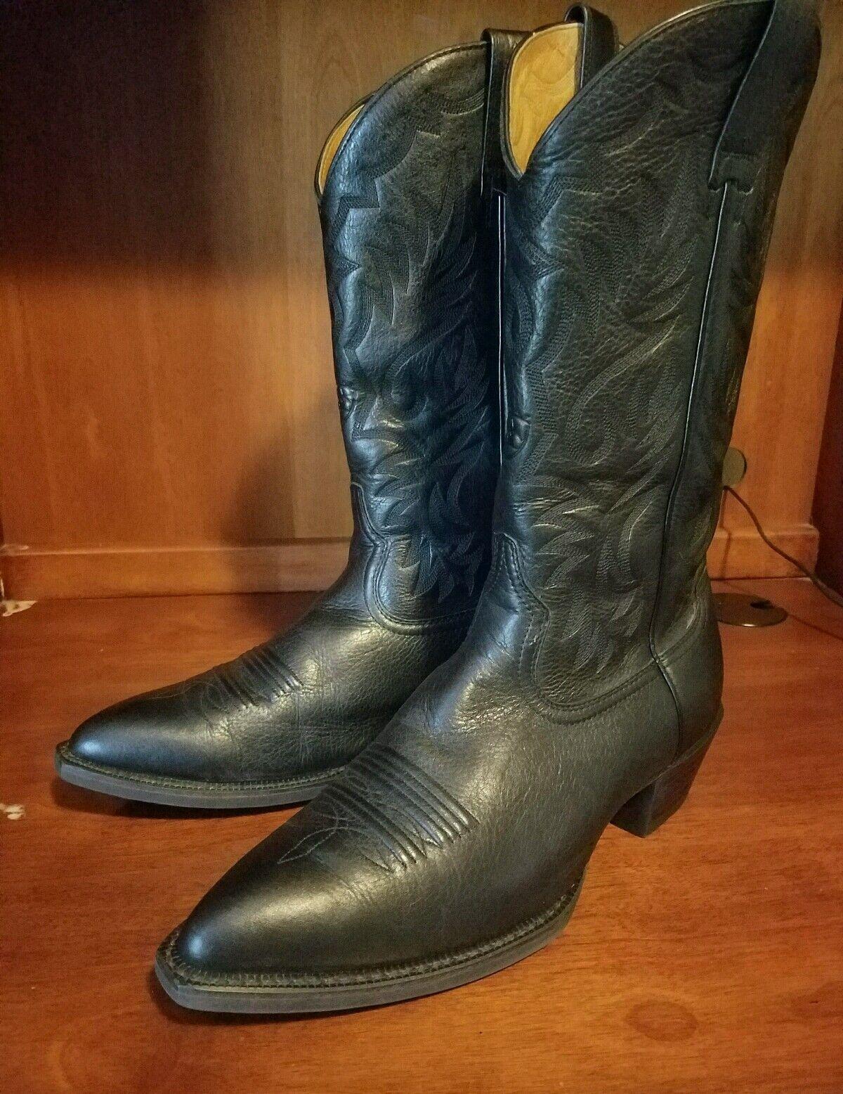 Ariat Nero Nip Toe Deer Deer Deer Tan Nero Western Cowboy Stivali Sz 11 D Style #10002269 86037a