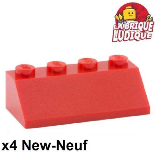 LEGO Bau- & Konstruktionsspielzeug Baukästen & Konstruktion 4x Steigung Lego Neigung geneigt 45 2x4 rot/rot 3037 neu Lego