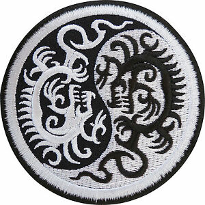 Yin-and-Yang-Chinese-Dragon-Embroidered-Iron-Sew-On-Patch-T-Shirt-Jacket-Badge
