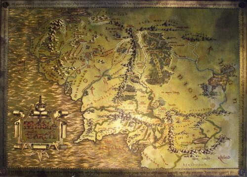 The Hobbit Karte Herr d Ringe Lord of the Rings Middle Earth