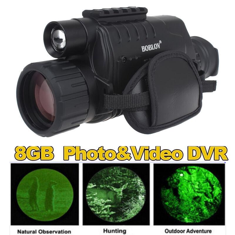 WG-37 Night Vision Monocular 5x40 Long Range DVR +14500 3.7V Charger Battery Kit