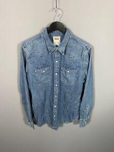 LEVI-S-Denim-Shirt-Size-Large-Blue-Great-Condition-Men-s