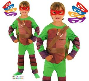 ce0156fb151 Details about Boys Padded Shell DELUXE TEENAGE MUTANT NINJA TURTLES Fancy  Dress Kids Costume
