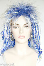 Fun Costume Party Flamboyant Neon Colors Medium Short Straight Wavy Wigs