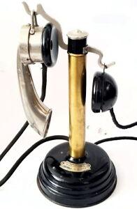antiguo-Telefono-de-candelabro-sobremesa-de-laton-THOMSON-1917-TELEPHONE-antique