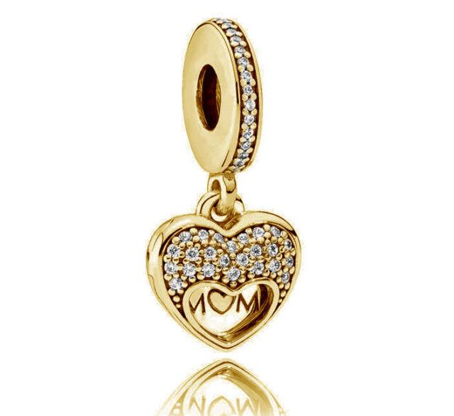 b9edc1c58 Authentic PANDORA 14k Gold Dazzling Droplet Pendant Charm - 356213CZ for  sale online | eBay