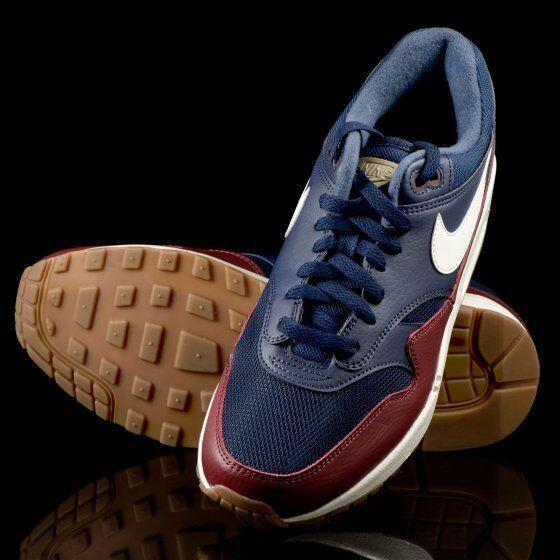 Nike air max 1 ah8145-400 größe 12 us - sail navy / segel - team ROT sail - neue ds auf lager d2acd0