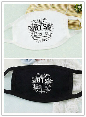 KPOP BTS Face Mouth Mask Bangtan Boys Muffle Muzzle Anti-dust Cotton Face Mask