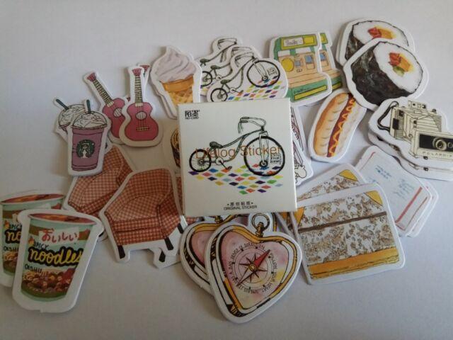 1 box 45 PCS Life items diary decoration Envelope Seal Scrapbooking Sticker