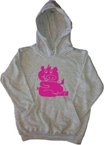 Sitting Pig Kids Hoodie Sweatshirt